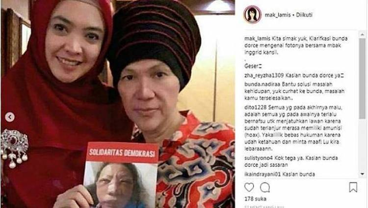 Ikut Sebar Foto Hoaks Ratna Dianiaya, Inggrid Siap Jika Dipolisikan