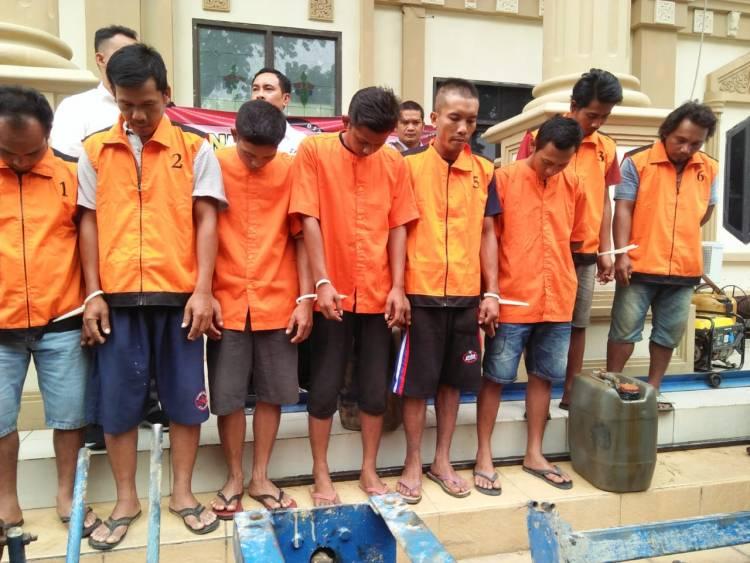 9 Orang Tersangka Illegal Drilling Bajubang Ditangkap Tim Polda Jambi