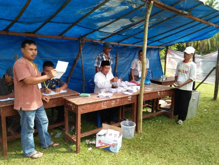 Pilkades Ujung Tanjung Bungo Diduga Curang, Calon Nomor 2 Protes