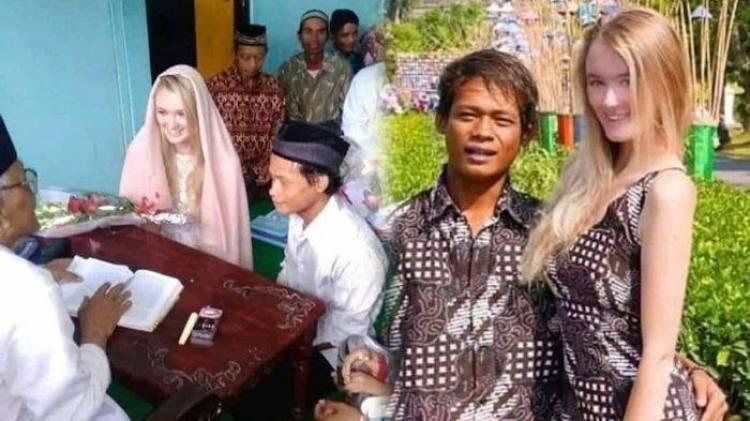 Viral!! Video Nikah Pemuda Indonesia dan Bule Cantik Asal Rusia