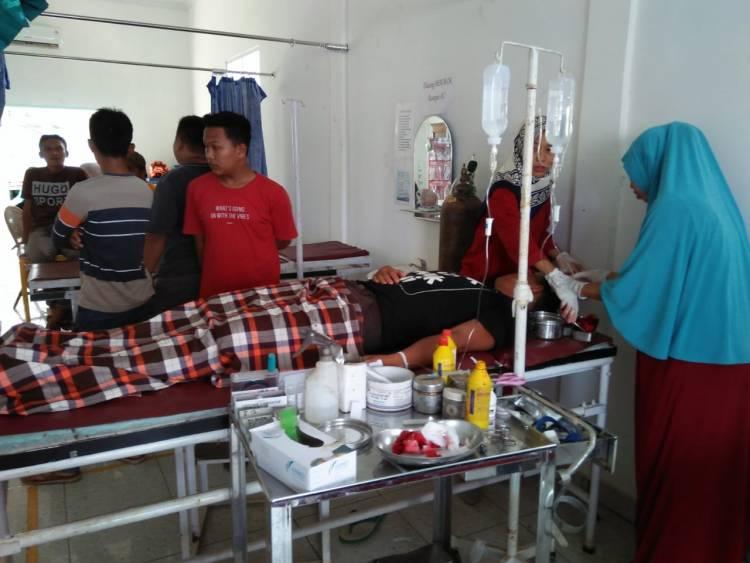 BREAKING NEWS!! Lagi Liburan Bakar Ayam, Pemuda Penual Bungo Kena Sabet Celurit