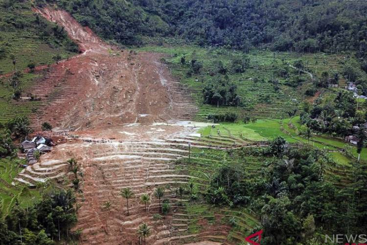 BNPB Sebut Longsor Sukabumi Seharusnya untuk Konservasi