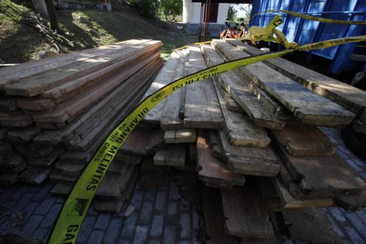 Dijarah di Merangin 27 Meter Kubik Kayu Ilegal Ini akan Dibawa Kesini...