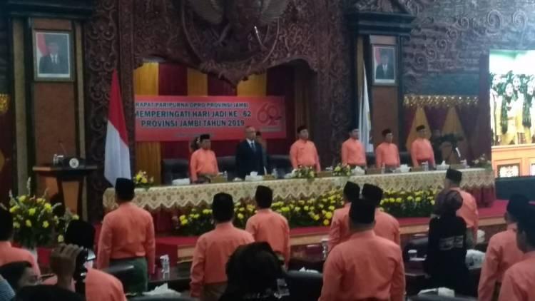 Para Tersangka KPK Pimpin Sidang Paripurna HUT Provinsi Jambi ke 62