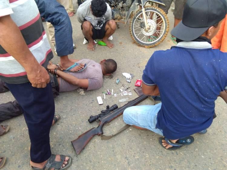 Begini Aksi Penangkapan Dua Pengedar Narkoba di  Dharmasraya