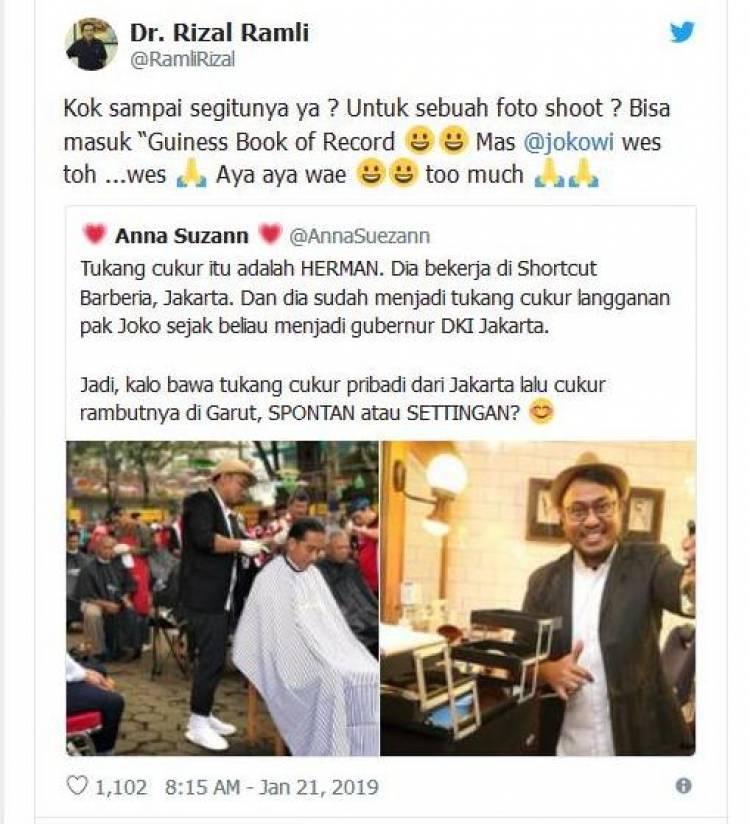 Dahnil, Rizal Ramli Hingga Fadli Zon Sindir Jokowi Soal Cukur Rambut