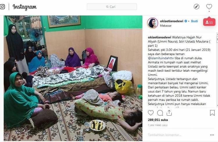 Ustadz Maulana dan 4 Anaknya Tidur di Samping Jenazah Istri Tercinta