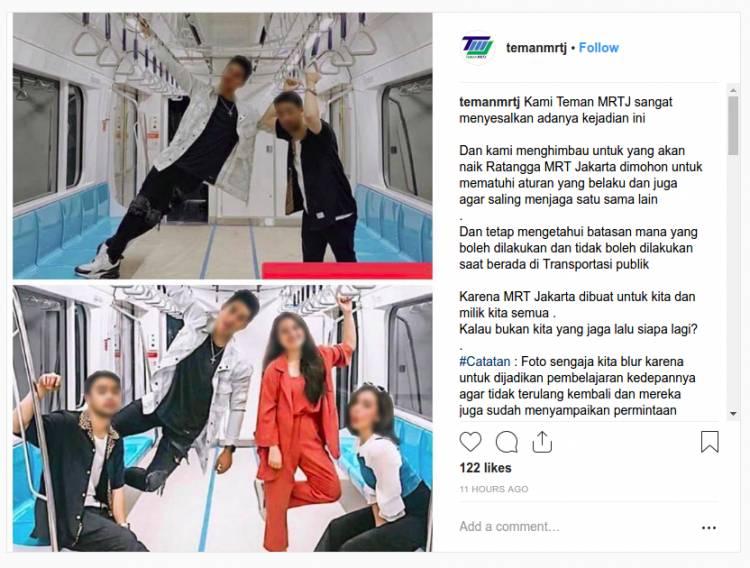 Jadi Viral, MRT Minta Insiden Selebgram Injak Kursi Jadi Pembelajaran