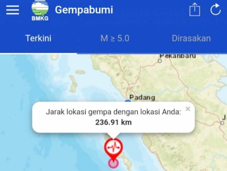 Breaking News!!! Guncangan Gempa juga Dirasakan Warga Merangin