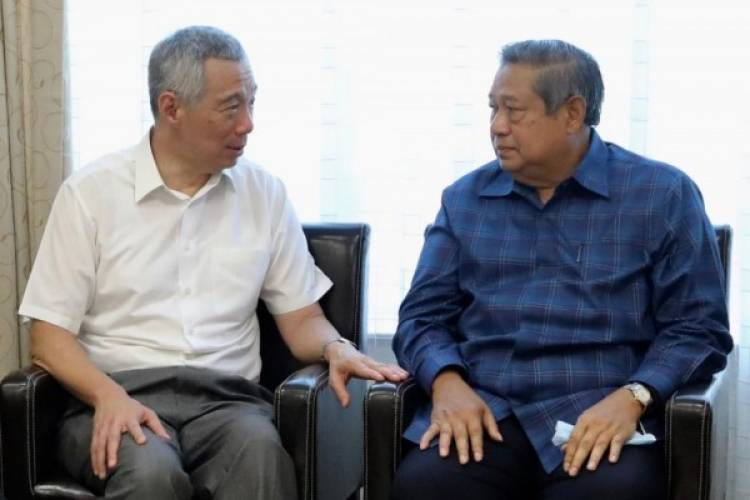 PM Singapura dan Wakil Jenguk Ani Yudhoyono