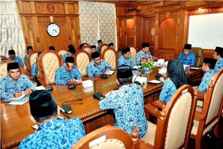 Pimpin Rapat, Fachrori Minta OPD Samakan Persepsi Wujudkan Jambi Tuntas 2021