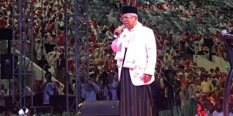 Soal Pidato AHY, Ma'ruf:  Berarti Ada Kecenderungan Dukung Pak Jokowi dan Saya