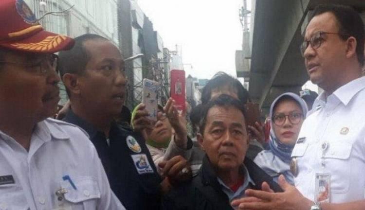 Tinjau Lokasi Kebakaran Blok A, Gubernur Anies akan Bantu Korban