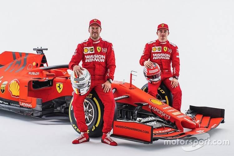 Duo Pebalap Ferrari Vettel, Leclerc