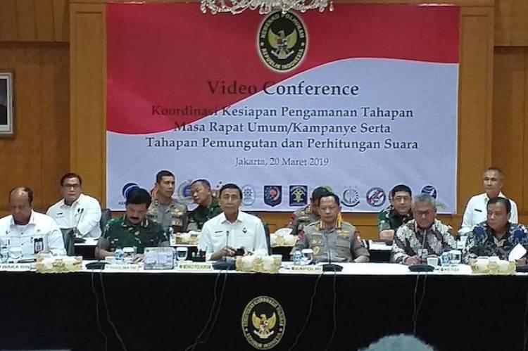 Lewat Vicon, Wiranto Gelar Rakor Pengamanan Kampanye Terbuka