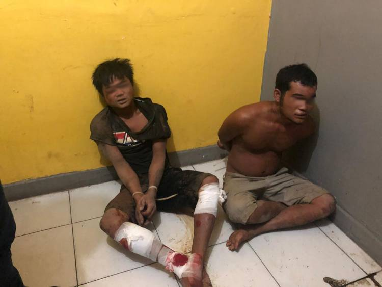 DOR!! Bandar Narkoba Pelaku Penikaman Polisi Merangin Tersungkur
