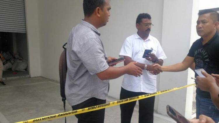 Polisi Malaysia Beri Police Line di Lokasi Surat Suara Tercoblos