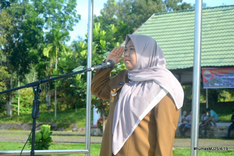 Jadi Irup Peringatan Hari Otonomi Daerah ke-23, Bupati Masnah: Mari Tingkatkan Kinerja Pemerintah