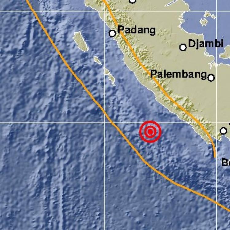 Gempa 5,3 SR Terjadi di Bengkulu, Tak Berpotensi Tsunami