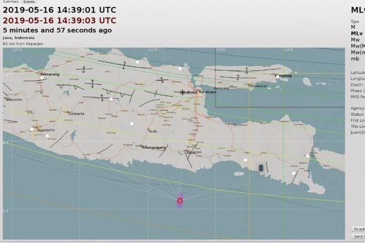 Kabupaten Malang Digoncang Gempa 4,9 SR, Tidak Berpotensi Tsunami