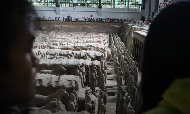 Prajurit Terakota Xi'an Ternyata Punya Kemiripan Borobudur