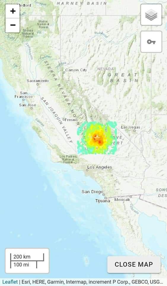 Gempa Kuat 7.1 SR Kalifornia Selatan Rusakkan Bangunan