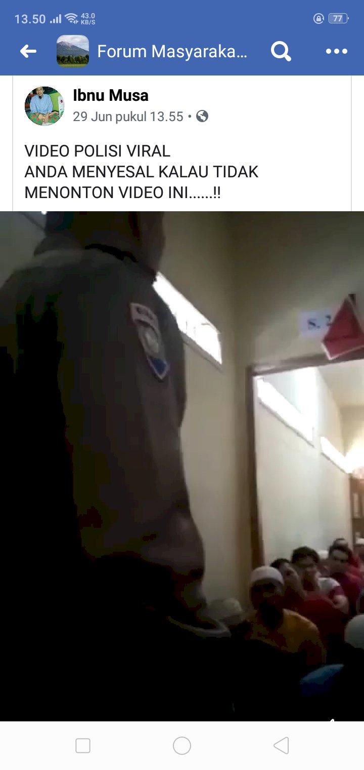 Viral!! Polisi Bungo Ceramah di Depan Tahanan