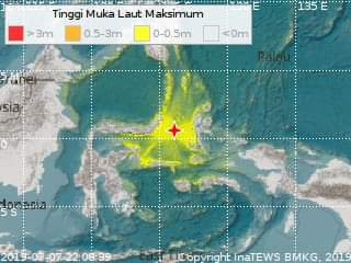 BREAKING NEWS!! Gempa 7,1 Mag di Sulut dan Malut, Peringatan Dini Tsunami