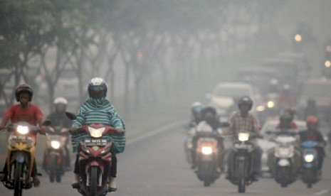 Kabut Asap Muncul Akibat Kebakaran Lahan di Pekanbaru dan Dumai