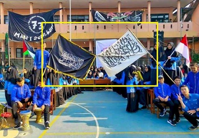 Viral!! Siswa MAN 1 Sukabumi Kibarkan Bendera Tulisan Tauhid, Begini Kata Pihak Sekolah