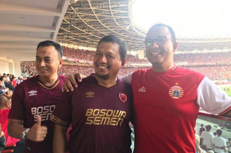 Iqbal-Anies Baswedan Nonton Langsung Final Piala Indonesia
