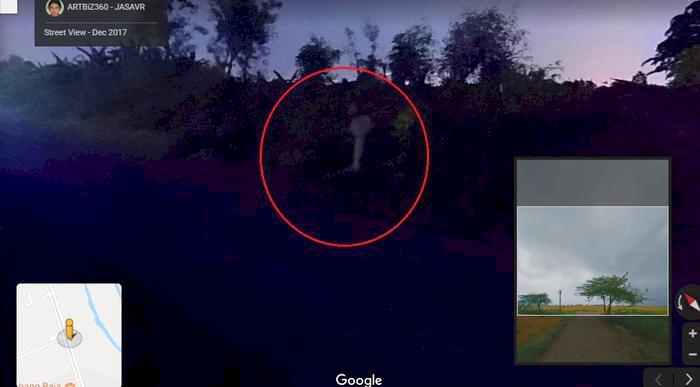 Viral di Medsos, Sosok Mirip Pocong Muncul di Google Map Saat Lacak Lokasi Desa di Demak