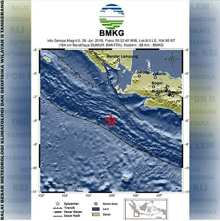BREAKING NEWS! Gempa 4.0 Magnitudo Goncang Banten