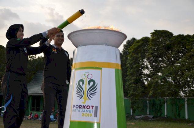 Buka Porkot Jambi ke-l Tahun 2019, Walikota Jambi Fasha: Bertanding Secara Sportif