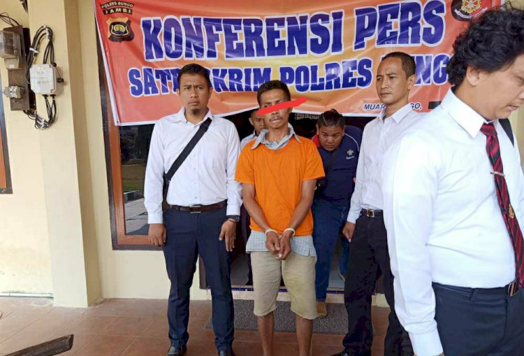 Polisi Bungo Ringkus Pelaku Pembunuhan Sadis di Bathin II Pelayang