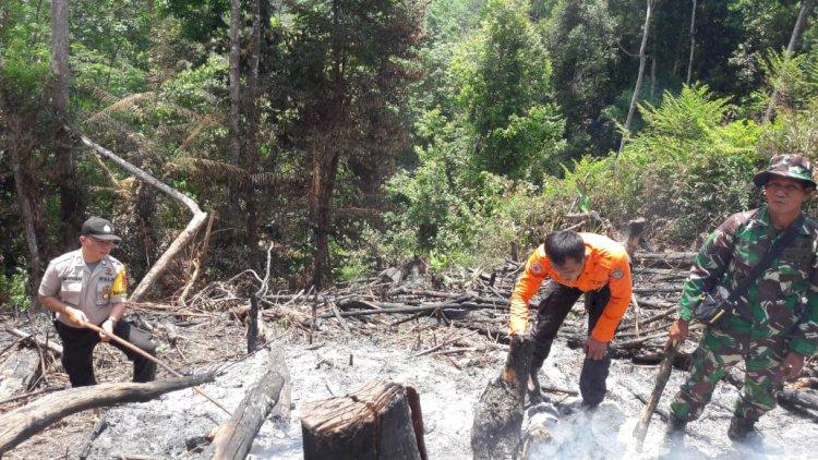 Di Merangin Kebakaran Lahan Terjadi, Petugas Buru Pelaku