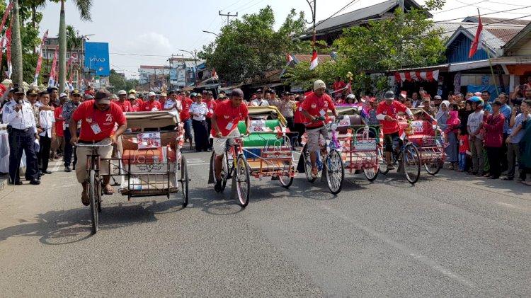 Lestarikan Wisata Angkutan Tradisional, Pemkab Gelar Balap Becak Hias