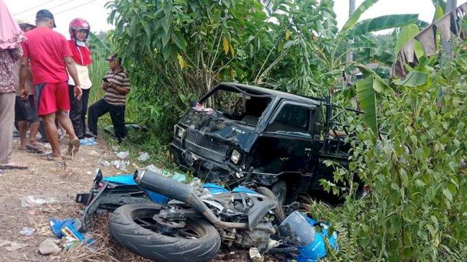 BREAKING NEWS! Mobil & Motor Adu Kambing, Satu Orang Tewas