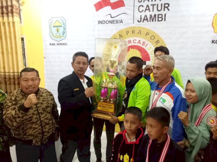 Batang Hari Juara Umum Kejurda Pra Porprov Catur 2019 di Kerinci
