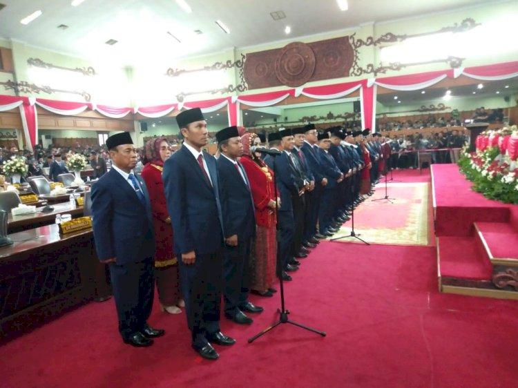 Sumringah! Resmi Dilantik Edi Purwanto Langsung Jadi Ketua DPRD Sementara