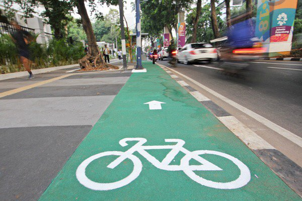 Ini Karya Anies! Jakarta akan Punya 63KM Jalur Khusus Sepeda