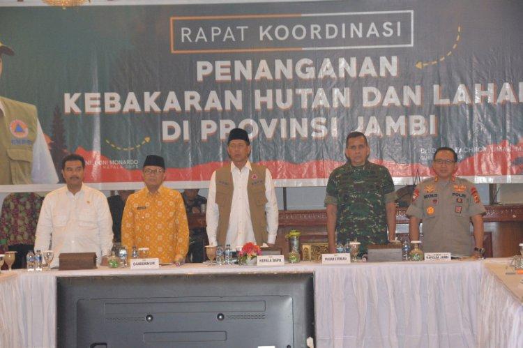 Bersatu Tanggulangi Karhutla, Fachrori: Kedatangan Kepala BNPB dan Pangdam Perkuat Penanganan Karhutla Jambi