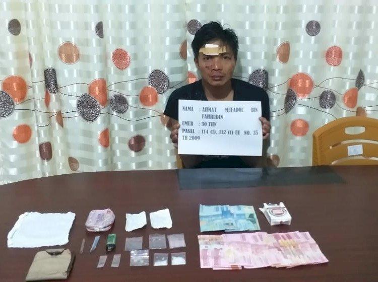 Koplak!! Pria Ini Sering Transaksi Narkoba di Madrasah Sungai Manau