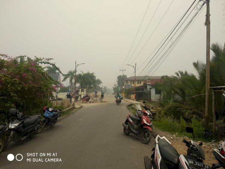 Kabut Asap Masih Selimuti Kualatungkal, Kosasi: Kabut Asap Kiriman Muarojambi Sekitar