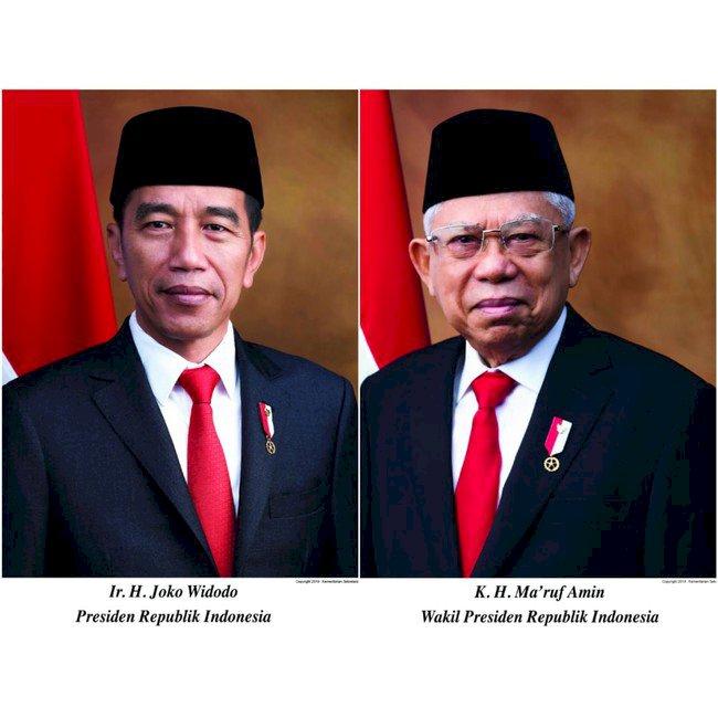 Foto Resmi Jokowi dan Ma'ruf sebagai Presiden-Wapres