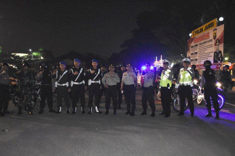 Jelang Pelantikan Presiden Besok, Tim Gabungan TNI/Polri di Jambi Lakukan Patroli Cipkon