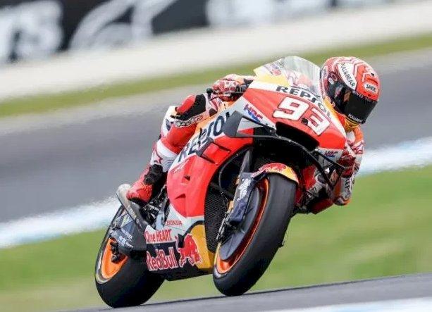 Menang Dramatis atas Vinales, Marquez Sang Juara GP Australia