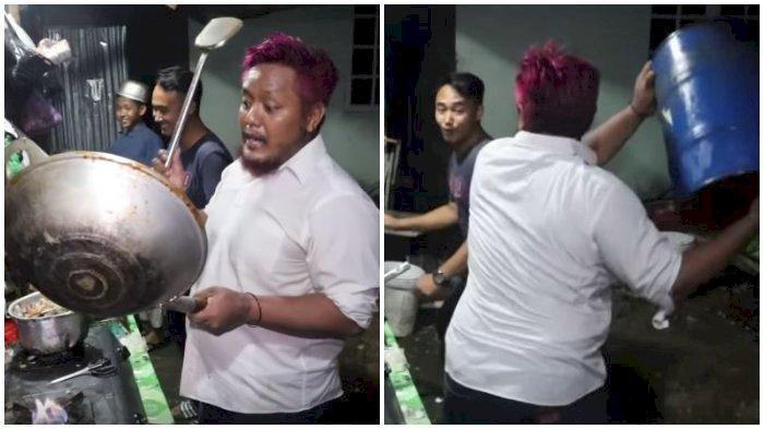 VIRAL! Aksi Nyeleneh Chef Antok Babalu Cafe, Lempar Panci Hingga Tabung Gas 12Kg