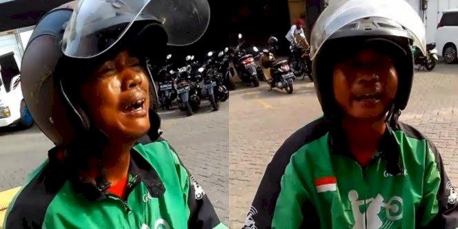 VIRAl, Driver Ojol Menangis Sesegukan Karena Order Dibatalkan