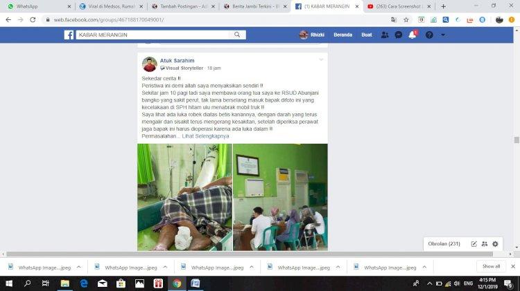 Viral!!! Diduga Telantarkan Pasien Hingga Meninggal, RSUD Bangko Dikecam Netizen